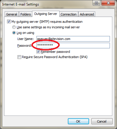 how to find password in outlook 2007